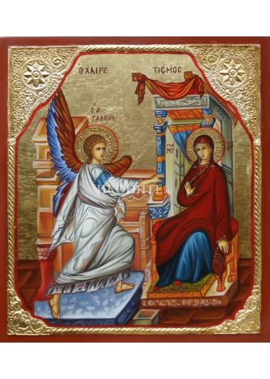 Малка дървена икона на Композиция - библейска сцена