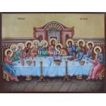 Ръчно рисувана златна икона - Тайната вечеря