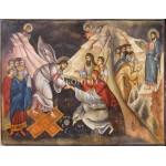 Репродукция на икона - Исус Христос - библейска сцена - композиция