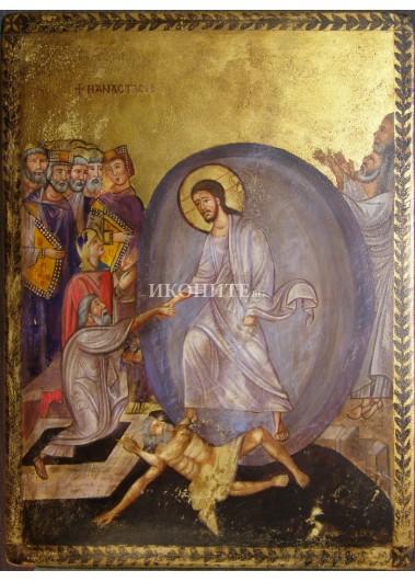 Рисувана икона - Исус Христос - библейска сцена