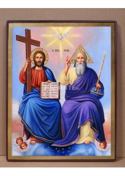 Рисувана икона - Света Троица