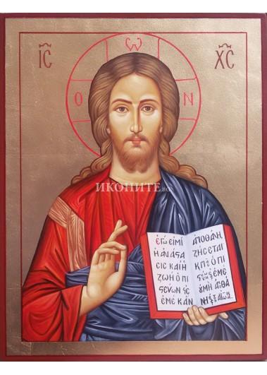Рисувана икона на Исус Христос Вседържител (Пантократор)