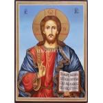 Малка дървена икона на Исус Христос