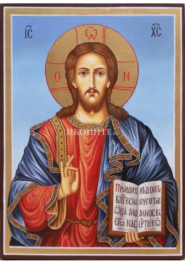 Икона на Исус Христос - Вседържител  - Пантократор - репродукция