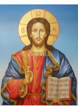Икона на Исус Христос - Вседържител - Пантократор - декупаж
