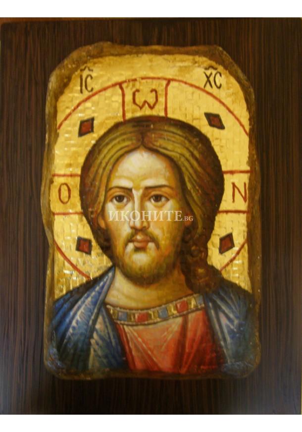 Икона на Исус Христос - мозайка - декупаж