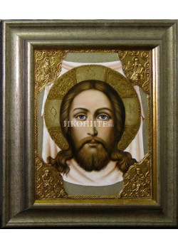 Икона на Исус Христос - Св. Спас - Неръкотворен образ - Св. Убрус - декупаж