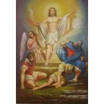 Икона Възкресение Христово - декупаж