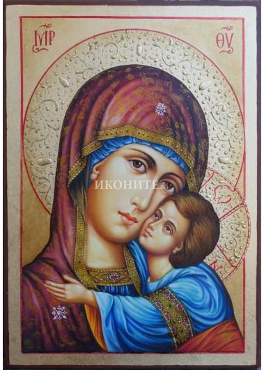 Чудотворна икона на Св. Богородица Владимирска - Умиление - икона с декупаж