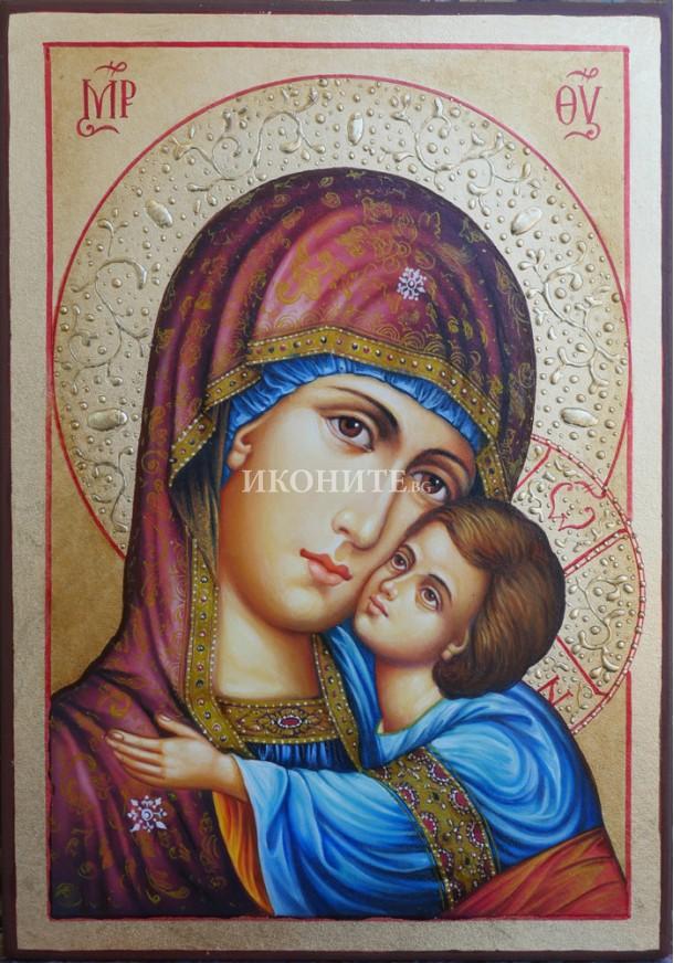 Владимирска икона - Малка дървена икона на Света Богородица