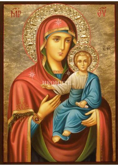 Репродукция на икона на Божията Майка с Младенеца - Пътеводителка - Одигитрия