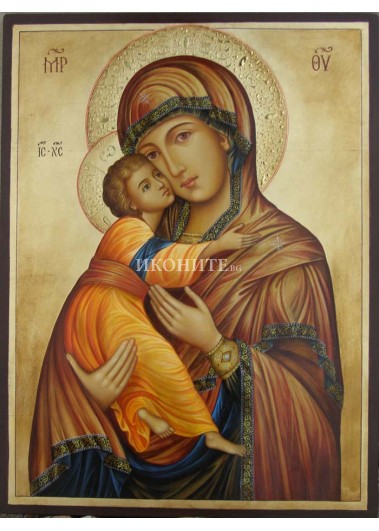 Малка дървена икона на Св. Богородица