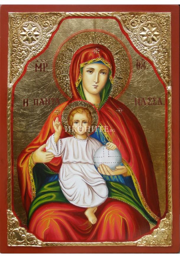 Икона на Света Богородица с Младенеца - висококачествен декупаж