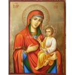 Дървена малка икона - Света Богородица с Младенеца