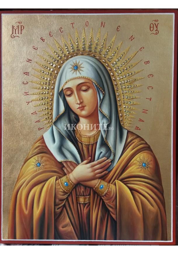 Златна рисувана икона на Св Богородица - Радост на радостите