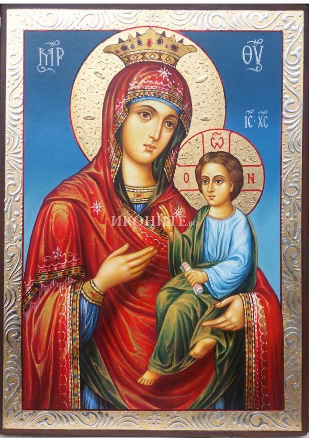 Дървена малка икона на Богородица Скоропослушница