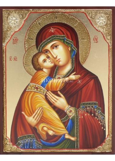 Чудотворна икона на Св. Богородица - Владимирска - Умиление - ръчно рисувана икона