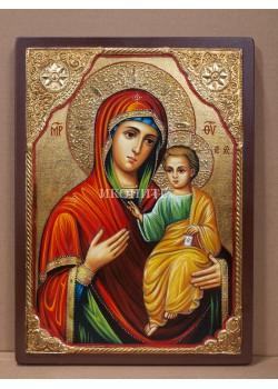 Чудотворна икона на Света Богородица (Иверска) - Вратарница - Портаитиса - рисувана ръчно