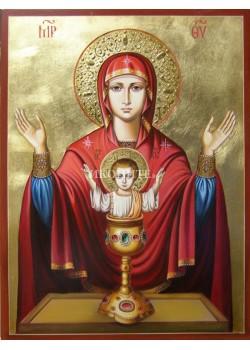 Чудотворна икона на Света Богородица Неупеваема чаша - икона с декупаж