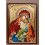 Дървена малка икона на Света Богородица