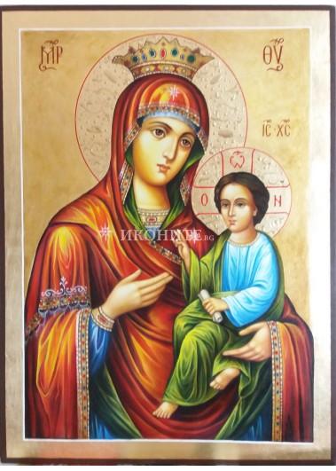 Малка икона от дърво на Света Богородица