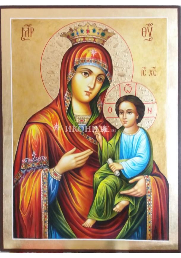 Чудотворна икона на Света Богородица - Скоропослушница - Чуваща молитвите - икона с декупаж