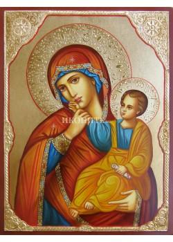 Икона на Света Богородица - Отрада - Утешение - декупаж