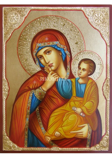 Малка икона от дърво на Св. Богородица