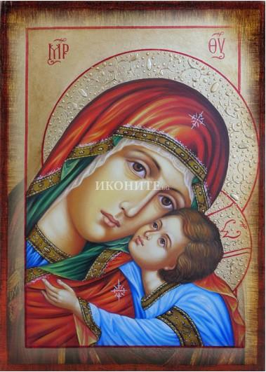 Чудотворна златна икона на Св. Богородица - Умиление