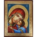 Чудотворната икона на Света Богородица с Младенеца - Елеуса - Умиление - декупаж