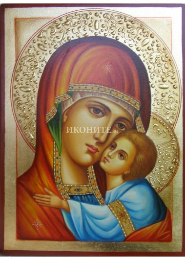 Дървена малка икона на Света Дева Мария