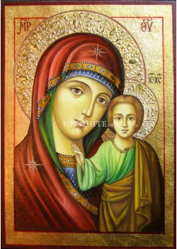 Чудотворна икона на Света Богородица - Казанска - Пазителка на портата - декупаж