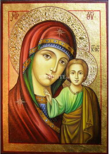 Малка икона от дърво - Света Богородица