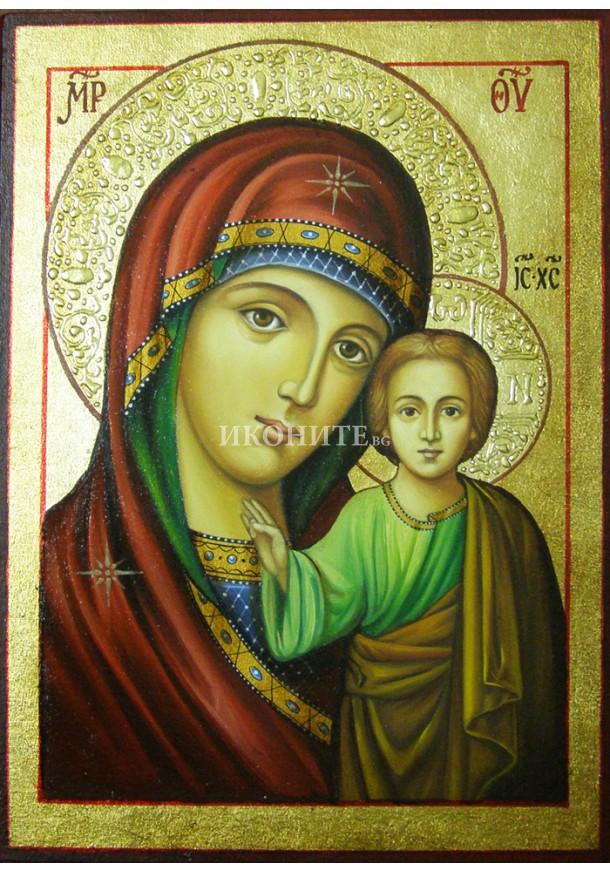 Чудотворна икона на Света Богородица - Казанска - декупаж