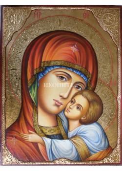 Дървена малка икона на Богородица