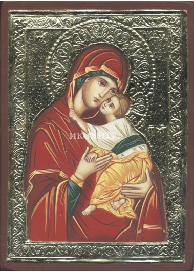 Чудотворна икона - Света Богородица - Умиление - рисувана икона
