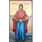 Покров Богородичен или Покров на Пресвета Богородица (чудотворна) - икона с декупаж