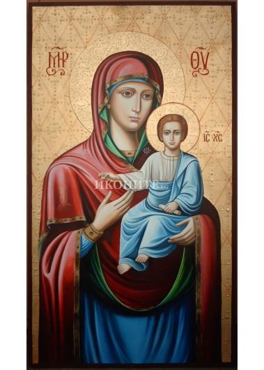 Рисувана икона на Света Богородица - Пътеводителка - висок качество на изработка