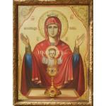 Чудотворна икона Неупеваема чаша на Света Богородица - икона с декупаж