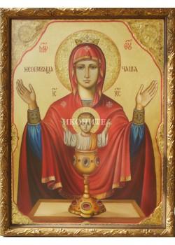 Дървена малка икона - Света Богородица
