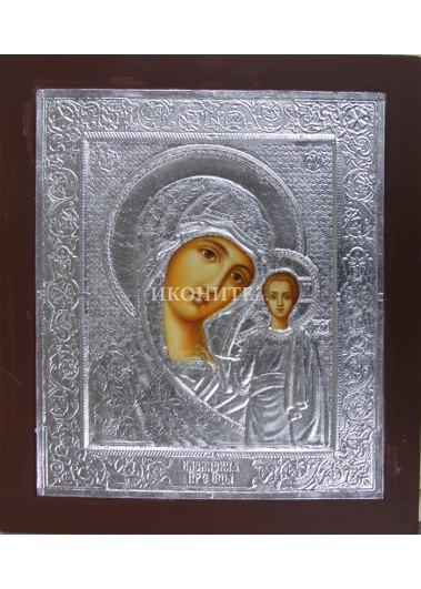 Рисувана икона на Света Богородица (Казанската) - уникална ръчно рисувана иконопис