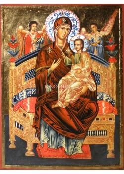 Икона на Света Богородица Всецарица - Пантанаса - рисувана икона