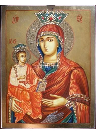 Чудотворната икона на Света Богородица Троеручица - Троянски манастир - икона с декупаж