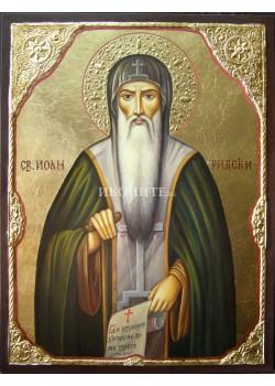 Малка дървена икона на Свети Иван Рилски Чудотворец