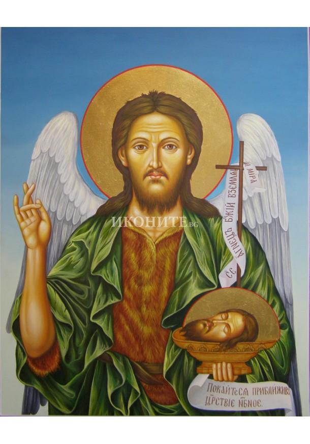 Икона на Свети Йоан Кръстител - декупаж