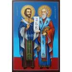 Малка дървена икона на Свети Свети Кирил и Методий