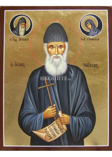 Икона на Свети Паисий Светогорски - декупаж