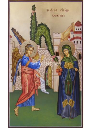 Икона на Света Ирини Хрисоваланти - декупаж