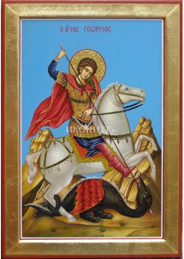 Малка икона от дърво Свети Георги
