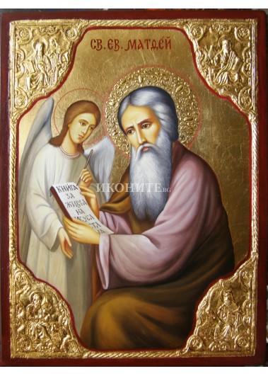 Икона на Свети Матей Евангелист - декупаж
